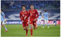 Jamal Musiela se ha convertido en el goleador más joven del Bayern en la historia de la competición con 17 años y 363 días. Foto Prensa Libre: @FCBayernES