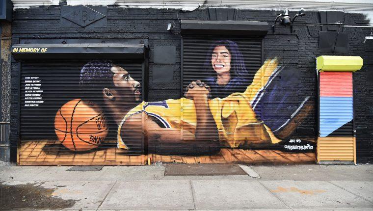 Kobe Bryant y Gianna Bryant siempre serán recordados. (Foto Prensa Libre: AFP)