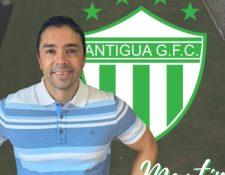 Martín Machón será el asistente técnico de Jeff Korytoski en Antigua GFC. (Foto Prensa Libre: Antigua GFC)
