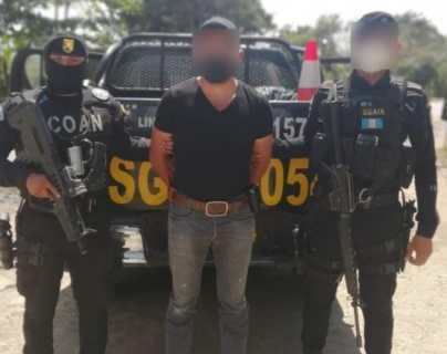 Captura de Willian Adelmo Chacón Ríos, alias Cartucho, quien tiene solicitud de extradición hacia los Estados Unidos por delitos de narcotráfico. (Foto Prensa Libre: MP)
