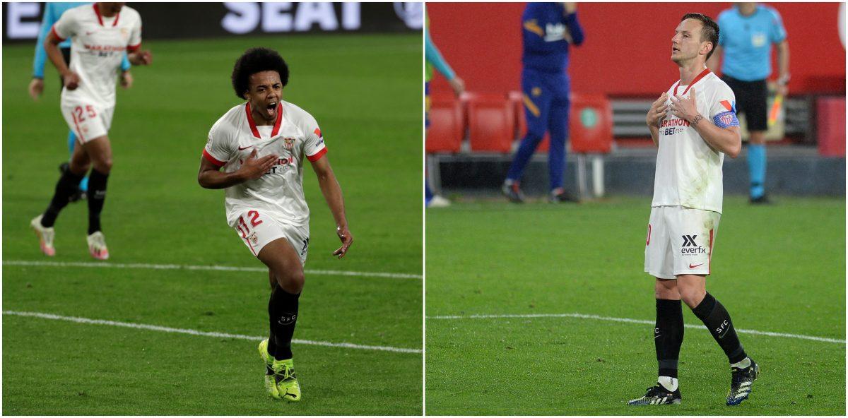 Copa del Rey: Con goles de Koundé y Rakitic el Sevilla le pega primero al FC Barcelona