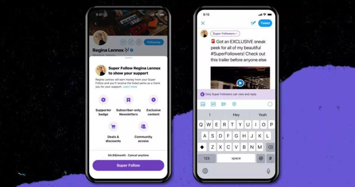 """Twitter anuncia el """"Super Follow"""", la suscripción por US$5 al mes mediante la cual los usuarios pagan por contenido exclusivo"""