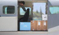 Avión de la Fuerza Aérea de Guatemala que trajo las vacunas al país. (Foto Prensa Libre: Érick Ávila)
