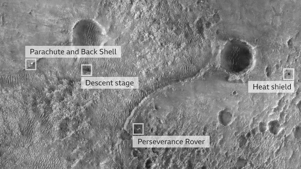 Perseverance: estas son las mejores imágenes tomadas por el robot en sus primeras semanas en Marte