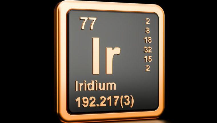 El precio del iridio ha crecido 131% en lo que va de 2021.