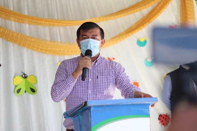 Julio Marroquín, alcalde de Villa Canales, se vacunó contra el covid-19 esta semana. (Foto: Muni Villa Canales)