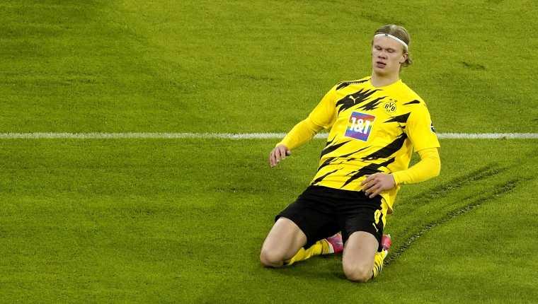 Erling Braut Haaland es el goleador de la actual edición de la  Champions League. Foto Prensa Libre: EFE.