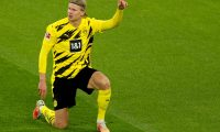 Dortmund (Germany), 13/03/2021.- Dortmund's Erling Haaland reacts during the German Bundesliga soccer match between Borussia Dortmund and Hertha BSC in Dortmund, Germany, 13 March 2021. (Alemania, Rusia) EFE/EPA/FRIEDEMANN VOGEL / POOL ATTENTION: The DFL regulations prohibit any use of photographs as image sequences and/or quasi-video.