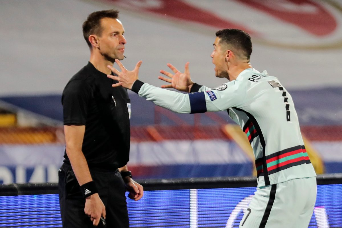 Empate de Serbia y Portugal termina con polémica por gol no convalidado a Cristiano