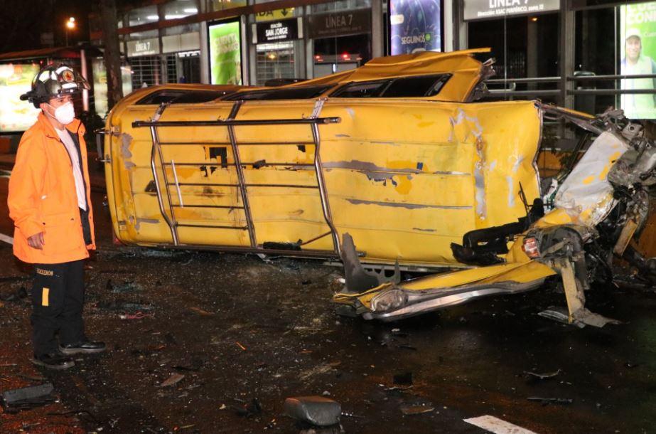 Dos hombres pierden la vida en accidentes de tránsito en  las zonas 11 y 5 de la capital