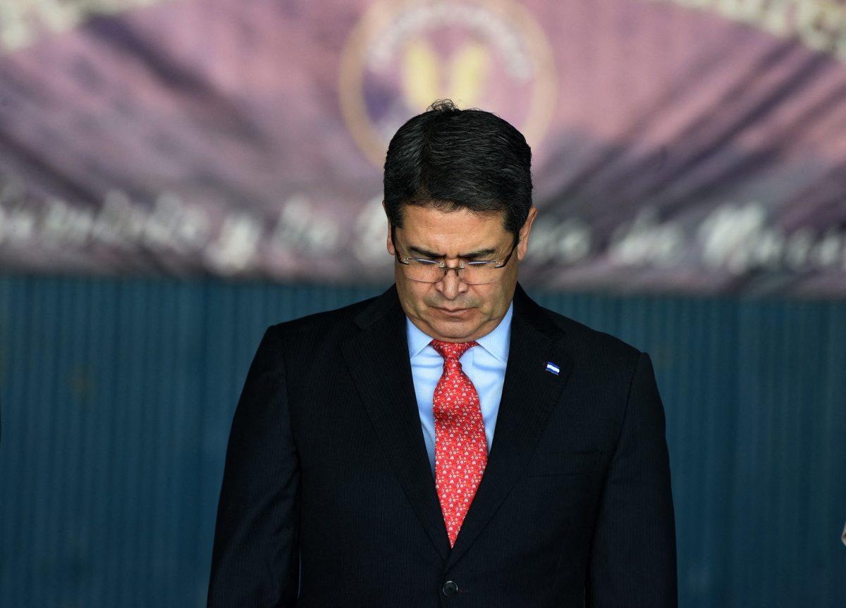 El presidente hondureño, Juan Orlando Hernández, ha sido señalado de narcotráfico por la justicia estadounidense. (Foto Prensa Libre: Hemeroteca PL)