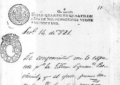 15 de septiembre de 1821: Firma del acta de independencia