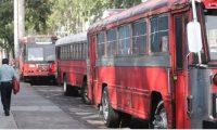 Hace algunos años algunos buses urbanos de la capital contaban con seguridad privada. (Foto Prensa Libre: Hemeroteca PL)