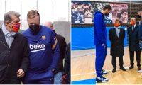 El recién electo presidente del FC Barcelona, Joan Laporta, visitó la Ciudad Esportiva. Foto Prensa Libre: @FCBarcelona_es