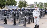 Agentes de la Guardia Nacional mexicana llegan a Chiapas. (Foto: INM)
