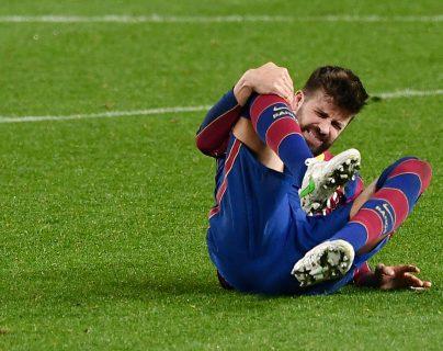 Piqué sufre un esguince de rodilla a una semana del PSG -Barcelona