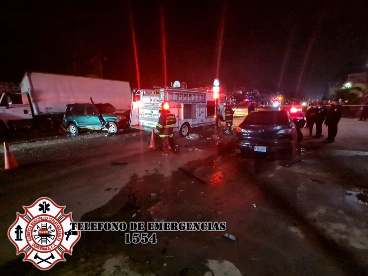 Accidente en El Tejar, Chimaltenango, deja dos muertos y dos heridos