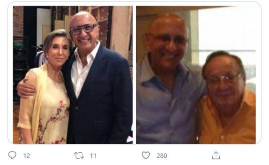 """""""Sé que por allá te encontraste con mi buen Rober"""": Florinda Meza recuerda a Alberto Ciurana, amigo de """"Chespirito"""""""
