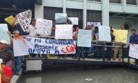 Manifestaciones a favor y otras en contra de la mina Fénix y otros proyectos se han dado en diversas ocasiones. (Foto, Prensa Libre: Hemeroteca PL).