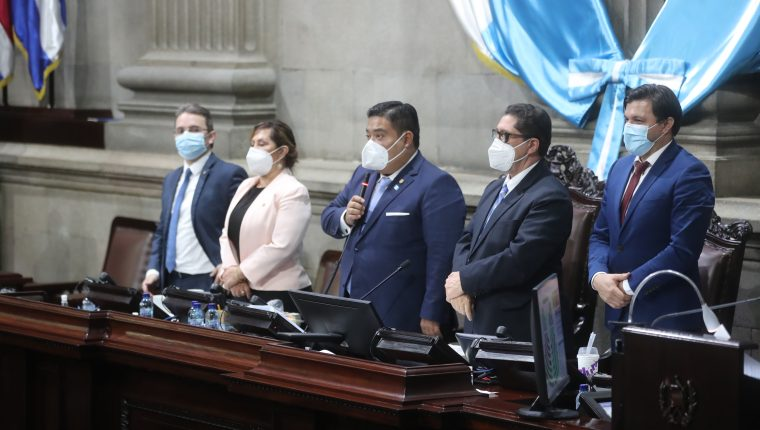 El oficialista Allan Rodríguez ocupa la presidencia del Congreso por segundo año consecutivo. Fotografía: Prensa Libre.