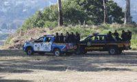 La Policía Nacional Civil mantiene patrullajes en el sector de Nimajuyú por los últimos enfrentamientos. (Foto Prensa Libre: Erick Ávila)