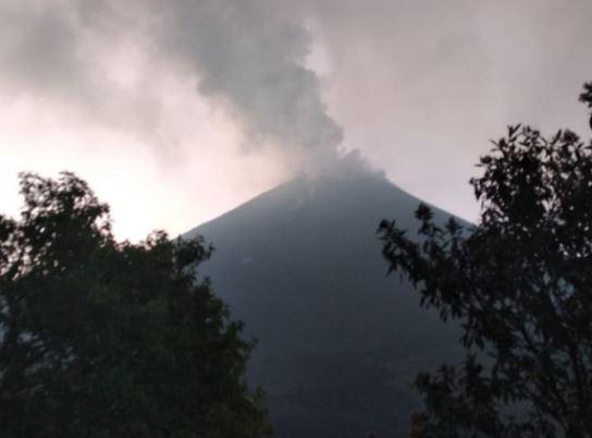 Volcán de Pacaya continúa en actividad eruptiva y así están los otros volcanes activos de Guatemala