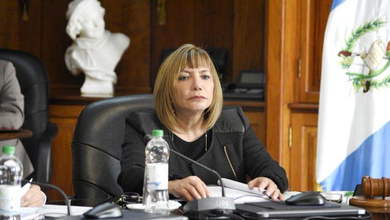Silvia Patricia Valdés, presidenta de la CSJ. (Foto Prensa Libre: Hemeroteca PL)