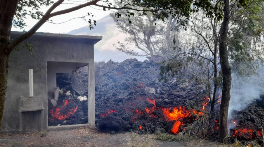 En imágenes: flujo de lava del Volcán de Pacaya avanza y amenaza a pueblo cercano