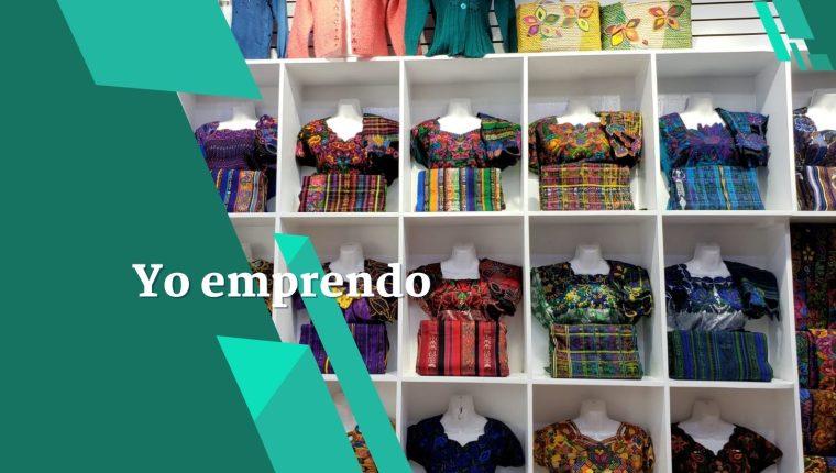 Así se exhiben los emprendedores guatemaltecos trajes mayas en un almacén ubicado en Brooklyn, Nueva York. (Foto Prensa Libre: Cortesía)