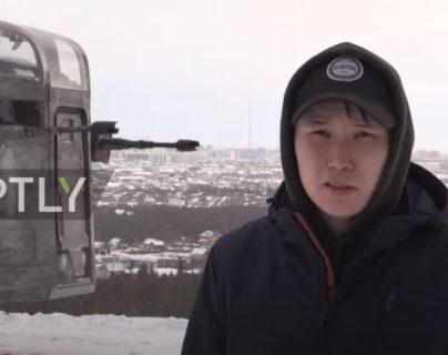 VIDEO: fans de Star Wars reconstruyen la nave espacial de Mandalorian en Siberia