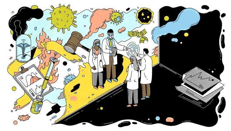 Ilustración de Kathieen Fu, para The New York Times Company.