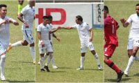 Óscar Santis, Agustín Herrera y Stheven Robles marcaron los goles para los cremas. José Corena dio dos asistencias. Foto Prensa Libre:  Club Comunicaciones.