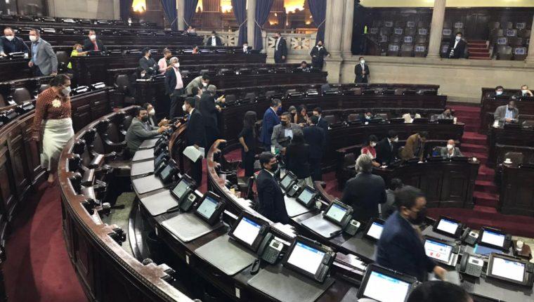 La sesión de este jueves no fue posible por la inasistencia de diputados, incluidos congresistas del bloque oficial. Fotografía: José Castro.