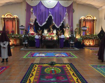 Fotos: Velación de Jesús Nazareno de la Caída de San Bartolomé de Becerra, Antigua Guatemala