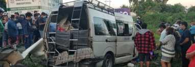 Cuatro personas murieron en el accidente de tránsito en Coatepeque, Quetzaltenango. (Foto Prensa Libre: Alexánder Coyoy)