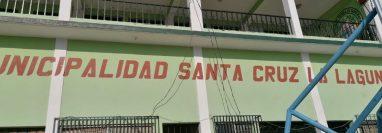 Municipalidad de Santa Cruz La Laguna, Sololá, en donde se lleva a cabo un cateo de la Feci. (Foto Prensa Libre: MP)