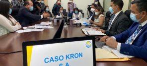 Funcionarios acuden a citación de diputado Cristian Álvarez. (Foto: CREO)