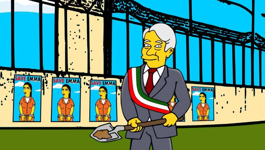 Emma Coronel tras las rejas: la irónica ilustración al estilo de Los Simpson de la esposa del Chapo Guzmán