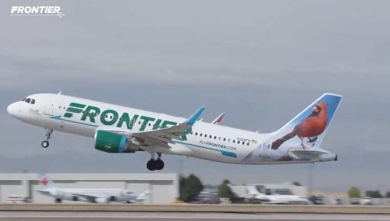 Frontier Airlines empezará a operar en Guatemala el 12 de abril del 2021. (Foto Prensa Libre: Frontier Airlines)