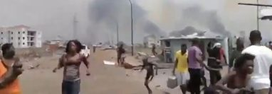 La cifra de heridos a causa de las explosiones en Bata asciende a más de 400 personas, según Ministerio de Sanidad y Bienestar Social de la República de Guinea Ecuatorial. (Foto Prensa Libre: Twitter)
