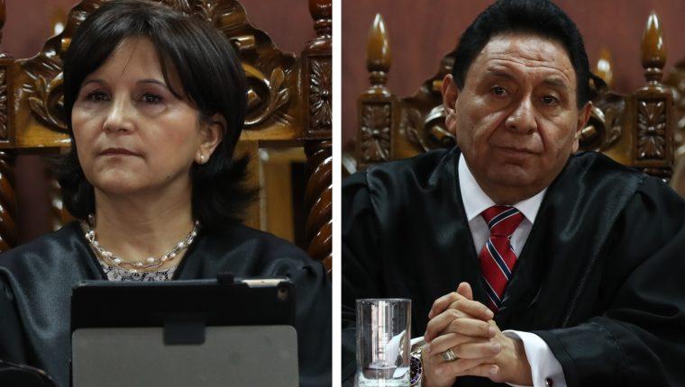 Magistrados constitucionales Gloria Porras y Francisco de Mata Vela. (Foto: Hemeroteca PL)