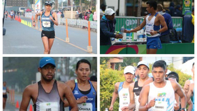 Mayra Herrera, Uriel Barrondo, Luis Ángel Sánchez y José Ortíz se clasificaron este sábado 20 de marzo a los Olímpicos de Tokio. (Foto Prensa Libre).