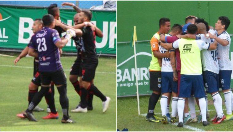 Sacachispas y Cobán Imperial sacaron buenos resultados contra Municipal y Guastatoya. Foto Prensa Libre: cortesía clubes Guastatoya y Cobán.
