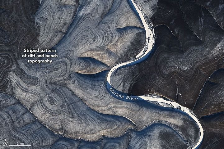 La NASA busca una explicación a las impresionantes líneas captadas por satélite en Rusia