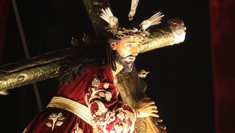 Imagen de Jesús Nazareno de las Tres Potencias de la Parroquia. (Foto: Byron García)