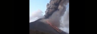 El volcán Pacaya está haciendo erupción. (Foto: Insivumeh)
