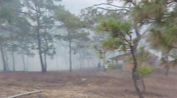 Incendio en las cercanías de las Ruinas de Zaculeu deja dos mujeres fallecidas