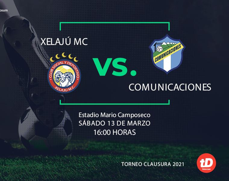 Estadísticas del partido entre Xelajú MC – Comunicaciones