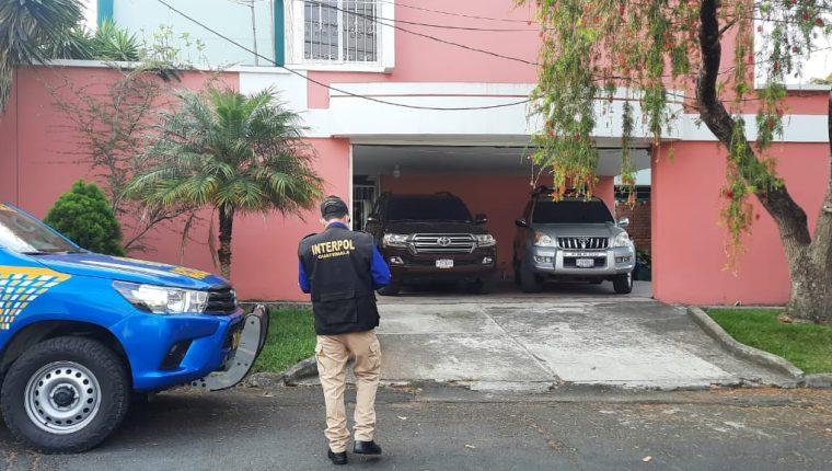 Allanamiento en zona 15 en búsqueda de Rodríguez Avilés. (Foto: PNC)