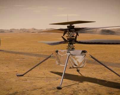 Cómo es el helicóptero Ingenuity de la Nasa, que ya está en el suelo de Marte